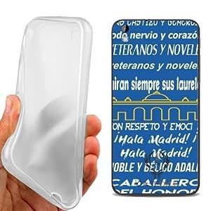 CUSTODIA COVER CASE CORO REAL MADRID BIANCO BLU PER HTC Desire 816