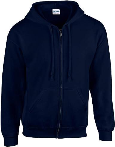 Gildan Men/'s Heavy Blend Full Zip Hooded Sweatshirt
