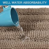 Extra Thick Chenille Striped Pattern Bath Rugs for
