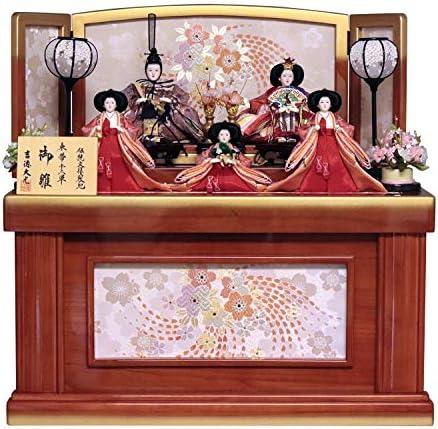 吉徳 雛人形 収納飾り 五人収納飾り 間口70×奥行50×高さ70cm 606951