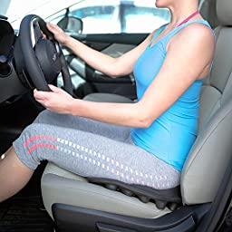 BackJoy SitzRight Seat Cushion | Wedge Cushion for Outdoors Indoors | Driving Seat Wedge Cushion | Ergonomic Design and Waterproof - NEW SPRING 2017