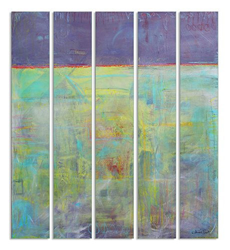 The Stupell Home Decor Collection Abstract Oils Mural Triptych, Set of 5 made in New England