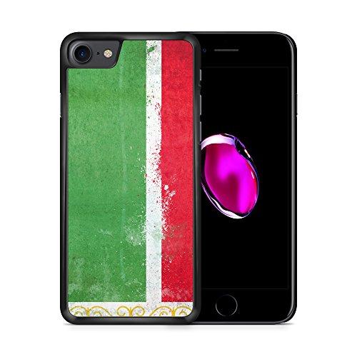 Tschetschenien Grunge iPhone 7 SCHWARZ Hardcase Hülle Cover Case Schutz Schale Flagge Flag Chechen