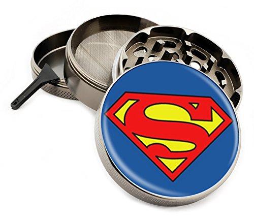 Dc Mills - Star Wars & Superhero Themed 4 Layer Herb Grinders with Bonus Scraper (Superman)