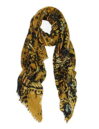 (Big Neck Scarfs for Women - Long Cotton Shawl Scarf Fall Viscose Large Scarf... (YELLOW 327))