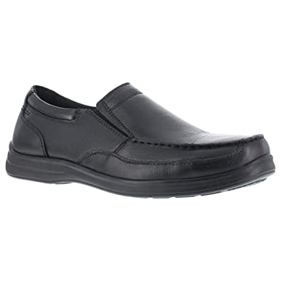 Florsheim Work Women's FS28 Wily Steel Toe ESD Slip-On,Black,US 6.5