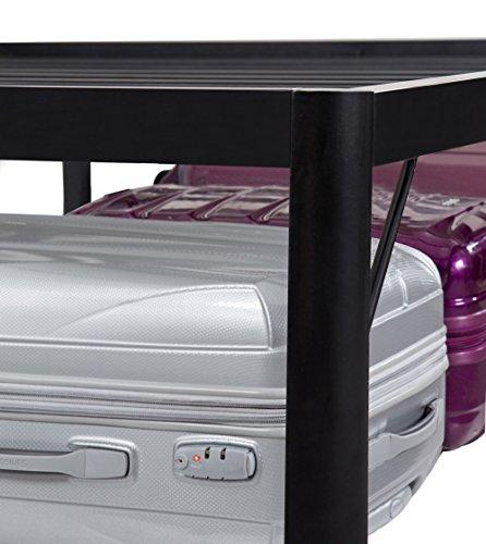 "PrimaSleep 14inch / 18inch Tall Black Metal Bed Frame with Round Edge Steel Slat, Mattress Platform Foundation APS - 3500 (18"" tall, Full)"