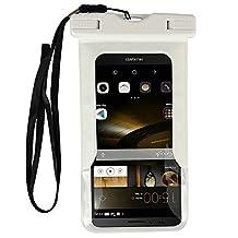 Premium Waterproof Dry Bag Pouch Case for LG G6 / G5 / LG Stylo 3 / Stylo 2 V / LG Stylus 3 / LG X Power 2 / Motorola Moto G5 Plus / Moto M / G4 Play / Huawei P9 P10 Plus / BlackBerry DKET60 (White)