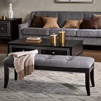 Madison Park Signature Everleigh Bench Ebony/Grey Multi See below