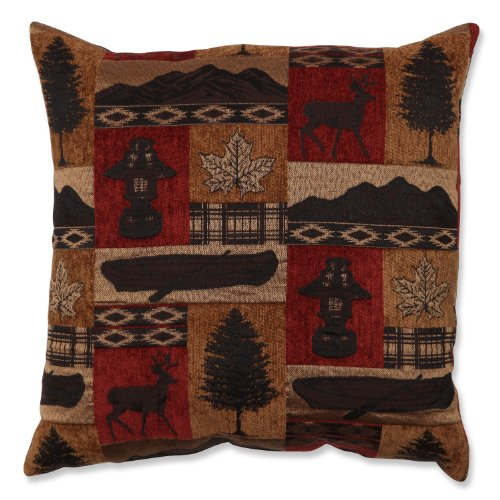Pillow Perfect Lodge Throw Pillow, 18-Inch, Redstone