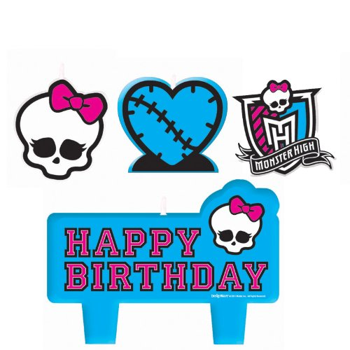 Monster High Mini Molded Candles Birthday Party Supplies Girl (Official Monster High Costumes)