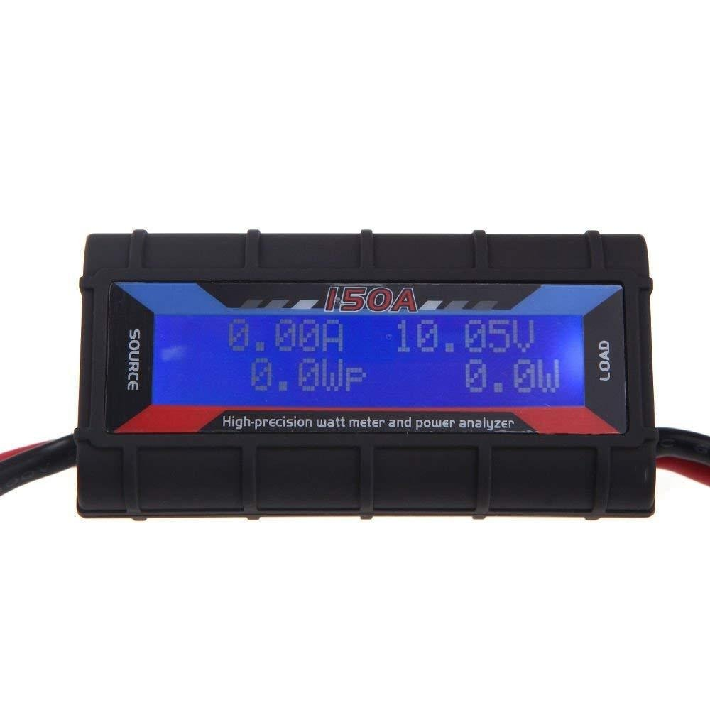 Power Watt Amp Meter for Wind or Solar 150amp Power Analyser Heavy Duty Type Realtime readings of Voltage 0-60V, Current 0-150A, Power 0-6554W.