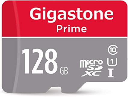Gigastone 128GB Micro SD Card with Adapter, U1 C10 Class 10, Full HD available, Micro SDXC UHS-I Memory Card