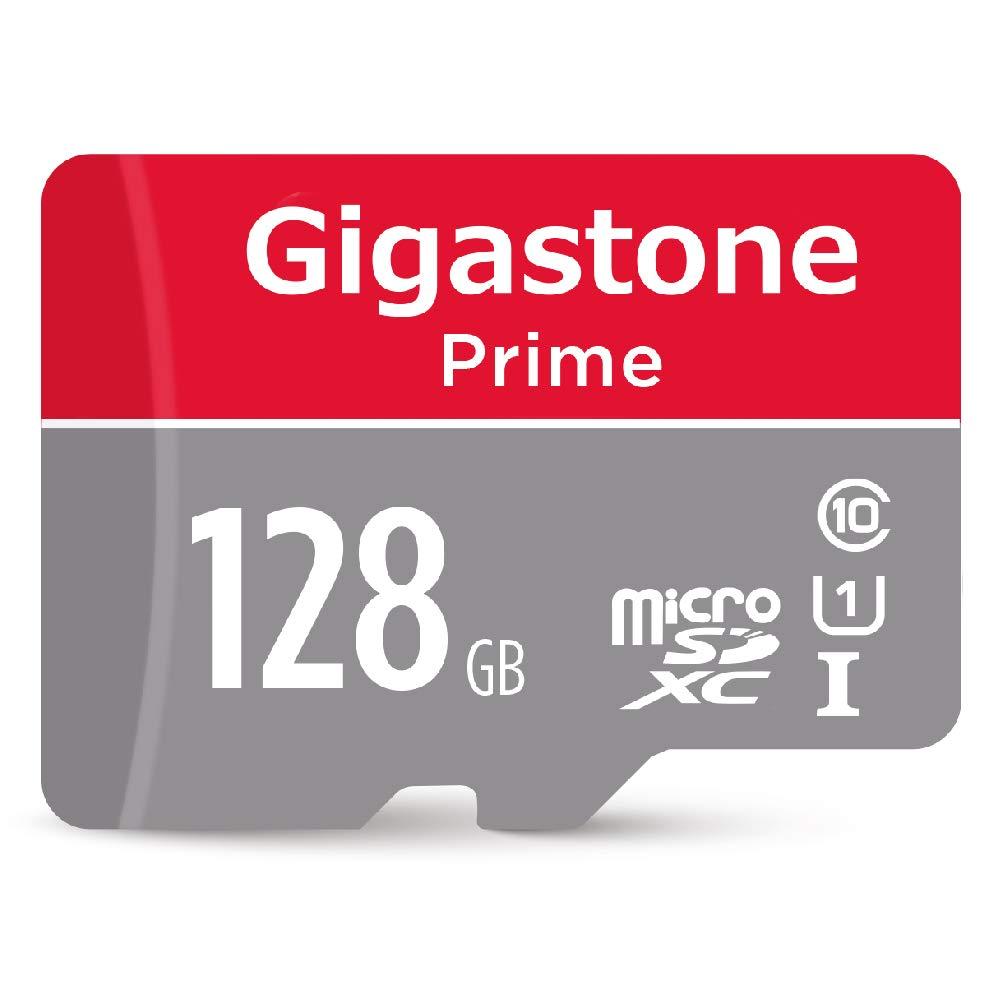 Gigastone 128GB MicroSD Card UHS-I U1 Class 10 Micro SDXC Memory Card up to 95MB/s with SD Adapter, Nintendo, Dashcam, GoPro, Camera, Samsung, Canon, Nikon, DJI, Drone by Gigastone