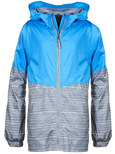 Arctic Quest Children's Colorblock Windbreaker Jacket with Jersey Lining & Hood Turquoise 14/16 (Leather Jacket Girls 14)