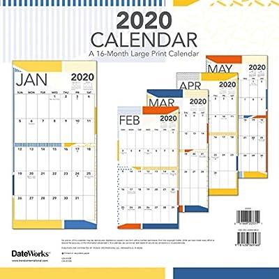 Large Print 2020 Wall Calendar: Trends International