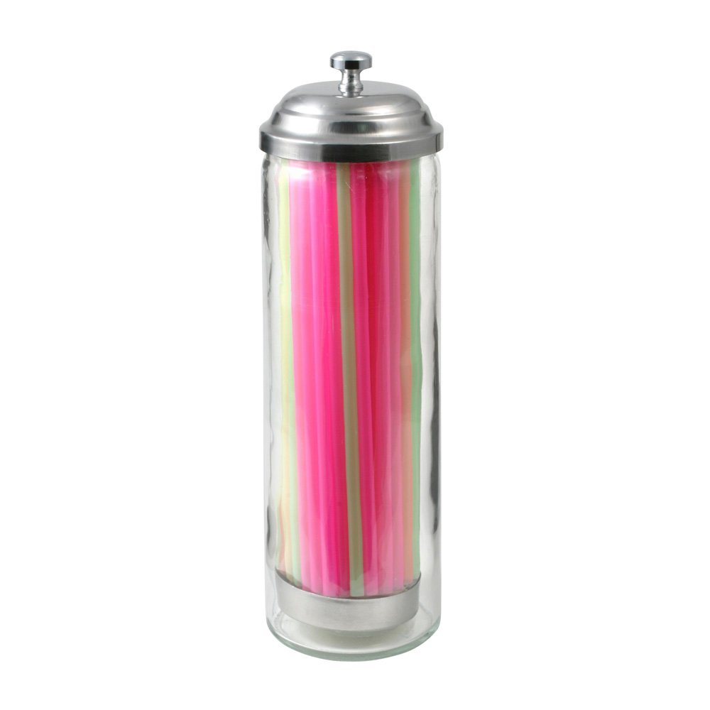 Gemco Junior Glass Straw Dispenser with Straws