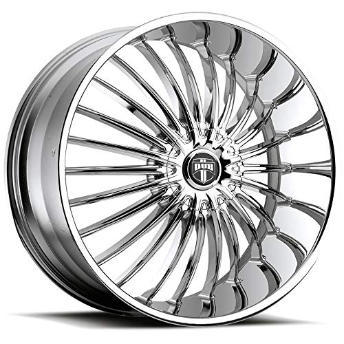 Chrome 24 Inch Rims - Dub Suave 24 Chrome Wheel / Rim 5x115 & 5x4.75 with a 15mm Offset and a 72.6 Hub Bore. Partnumber S140249506+15