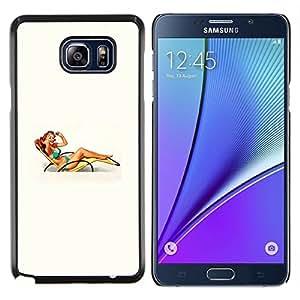 "Planetar® ( Cátedra Mujer Chica Beach Pin encima del arte retro"" ) Samsung Galaxy Note5 / N920 Fundas Cover Cubre Hard Case Cover"