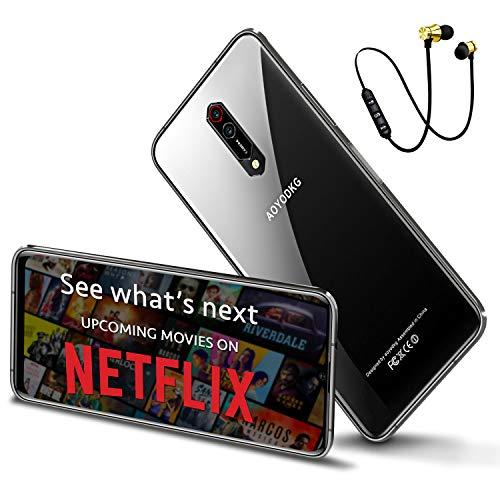 4G LTE Unlocked Smartphone, 6GB RAM+64GB Android 10 Unlocked Cell Phones   6.5-Inch FHD+ Full Screen   4500mAh Battery   16MP Al Camera  5G WiFi   OTG (Black)