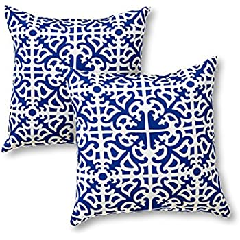 this item greendale home fashions 17 in outdoor accent pillow set of 2 indigo