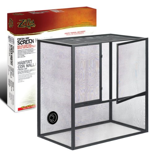 R-Zilla SRZ100011811 Fresh Air Screen Reptiles Habitat, 18 by 30-Inch (Cage Habitat Reptile)