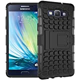 Samsung Galaxy A5 - Premium Quality Shockproof Defender Plastic Hard Back Case Cover + Free Clear Screen Protector + Polishing Cloth