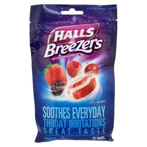 Halls Fruit Breezer Cool Berry
