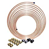 25 ft 3/16 in Copper-Nickel Brake Line Repair Kit (Includes Fittings) – Inverted Flare, SAE Thread