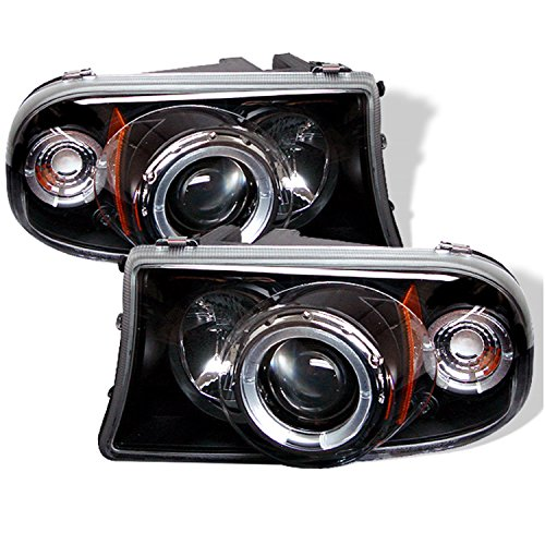 Spyder Auto Dodge Dakota/Durango Black Halogen Projector Headlight ()