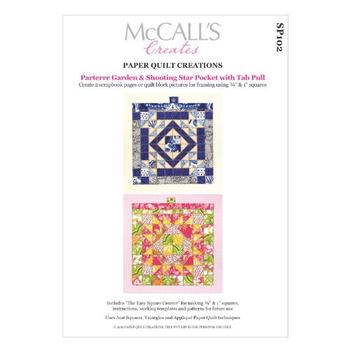 McCall's Creates W10632 Paper Quilt Creations Craft Pattern, Parterre Garden and Shooting Star Scrapbook Page