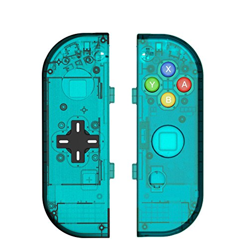 - BASSTOP Translucent NS Joycon Handheld Controller Housing with D-Pad Button DIY Replacement Shell Case for Nintendo Switch Joy-Con (L/R) Without Electronics (Joycon D-Pad-ice Blue)