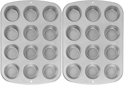 - Wilton Recipe Right Nonstick 12-Cup Regular Muffin Pan (2, STANDARD)