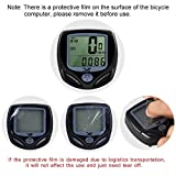 DINOKA Bike Speedometer Waterproof Wireless Bicycle Bike Computer and Cycling Odometer with Automatic Wake-up Multi-Function LCD Backlight Display