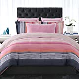 Christian Siriano Sunset Stripe Full/Queen 3 Piece Duvet Cover Set