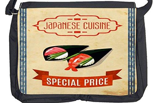 Borsa Tracolla Retro cucina giapponese Stampato