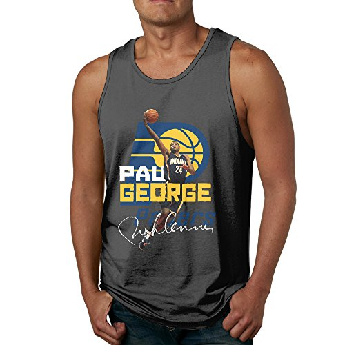 Indiana Pacers Lamp (SAXON13 Cute Waistcoat For Men George 24# Indiana Pacers Size S Black)