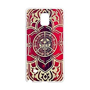 peace and justice obey Red star flowers Cell Phone Case for Samsung Galaxy Note4 WANGJING JINDA