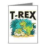 Greeting Cards (10 Pack) T-Rex Dinosaur Tyrannosaurus Baby