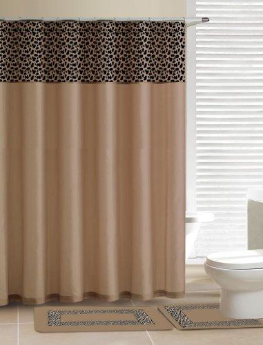 (Home Dynamix Designer Bath Polyester 15-Piece Bathroom Set,)