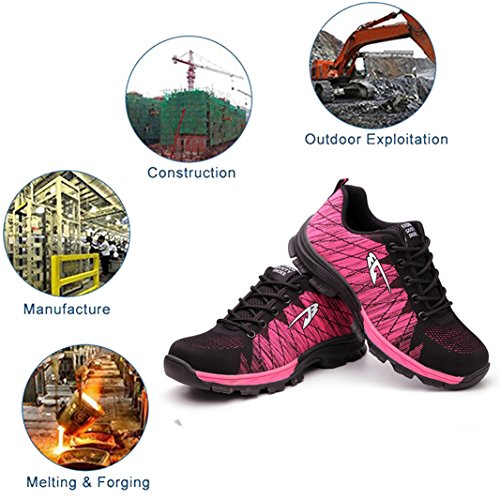 Steel Toe Toe Work Boots for SUADEX pink Men Shoes 04 Shoes Shoes Steel Safety Men fqaBxdwg