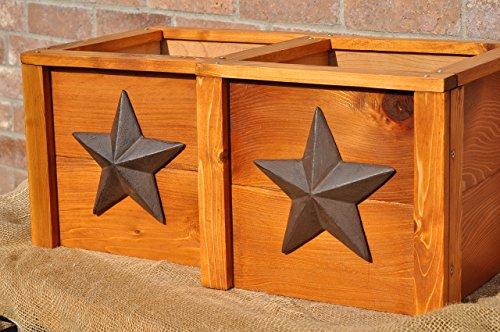 Set of 2 Handmade Rustic Cedar Planter Boxes