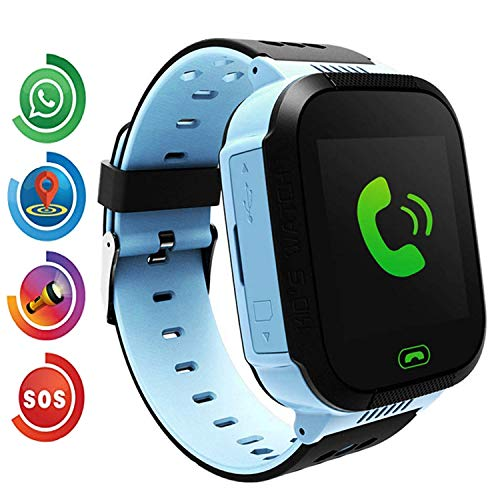 "Benobby Kids Smart Watch for Boys and Girls Children GPS Touch Phone Wrist Watch with 1.44"" Touch Screen and Anti-Lost SOS Call GPS LBS Locator Smartwatch for Kids Gift, Compatible with iOS & Android"