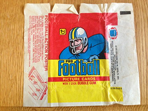 TOPPS 1973 PRO FOOTBALL BUBBLE GUM & TRADING CARD WRAPPER MID - Cards Gum Bubble Trading