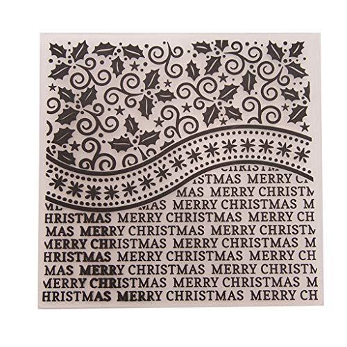 Embossing Plastic Stencil - Shoresu Dabixx Plastic Embossing Folder Stencils Template Molds DIY Scrapbooking Paper Photo Album Card Decoration - Merry Christmas