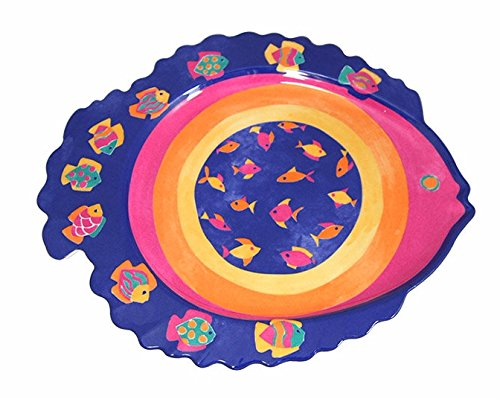 - Fish Shaped Melamine Plate Dish For Fruit,Dessert Platter Tray Dish Kitchen Dining Fruit,Dessert,Snack,Dinner (Set of 2)