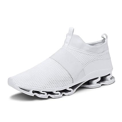 ASDFGH Zapatillas de Running para Hombre, Antideslizantes, Zapatillas de Hoja Absorbente de Choque,