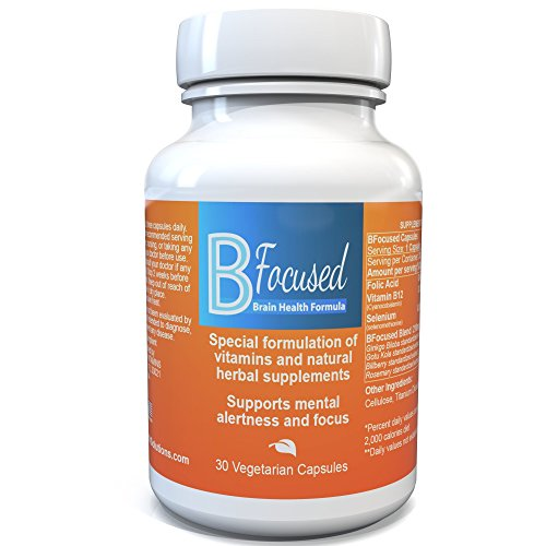 b focused #1 extra strength brain booster on amazon - powerful focus supplement for memory & clarity - made in usa