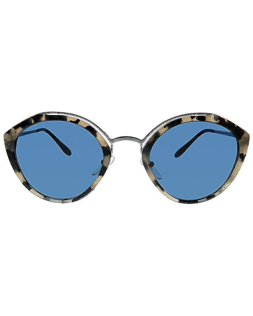 9cbc1d11c6ed Amazon.com  Prada PR18US HU7219 Grey Havana Gunmetal PR18US Round Sunglasses  Lens Categ  Prada  Clothing
