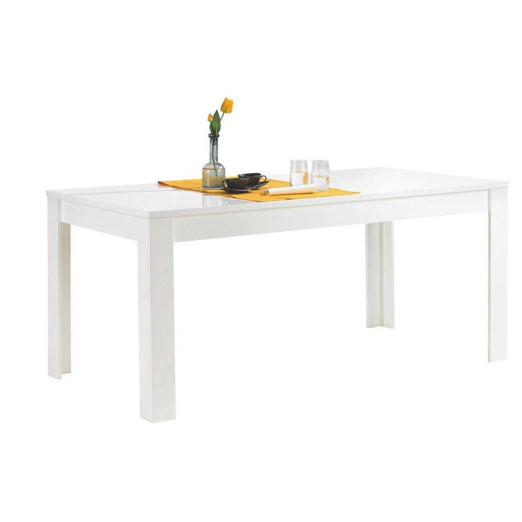 Tisch Amalfi, 180 x x x 79 x 90 cm, weiß hochglanz badb21